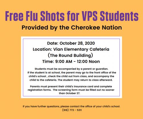 Free Flu Shots for Students