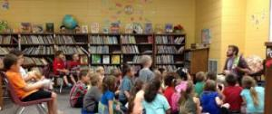 We love when Mr. Drew from Garland County Library comes to read to us!