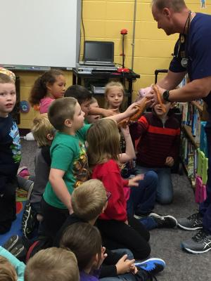 Hamilton the Corn Snake got plenty of attention, too!