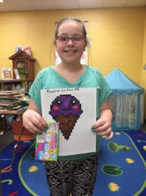 Kamryn's pixel art ice cream!