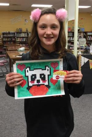 Kylee's championship Pixel Art: first place!