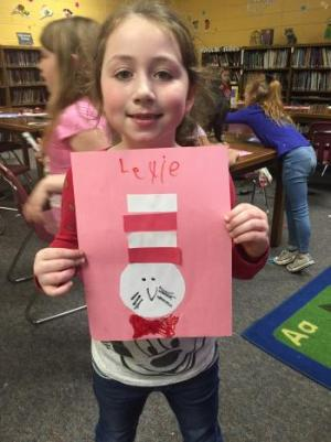 Lexie shows off her Cat in the Hat