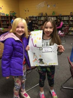The leprechaun even left these girls a note!