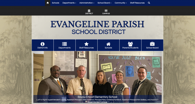 An Image showing Evangeline Parish School Board
