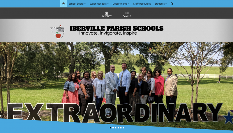 An Image showing Iberville Parish School Board
