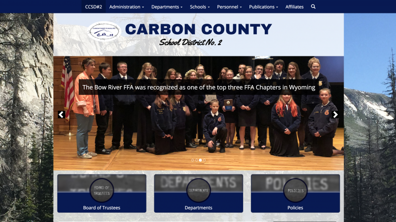 An Image showing Carbon County School District No. 2