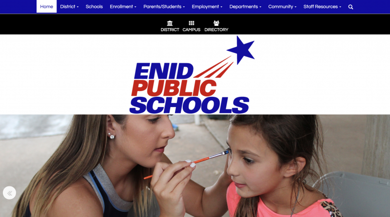 An Image showing Enid Public Schools