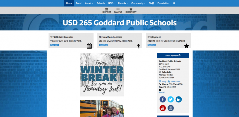 An Image showing Goddard Public Schools USD 265