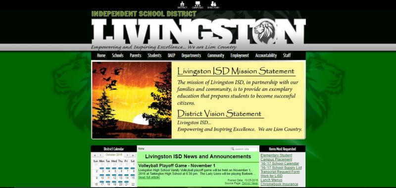 An Image showing Livingston ISD