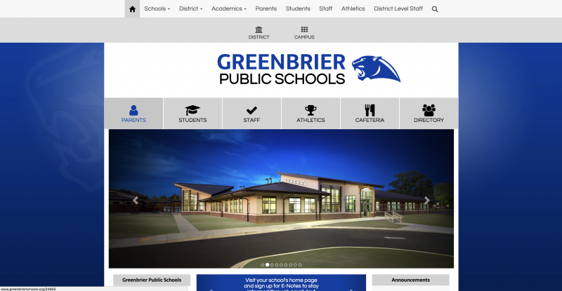An Image showing Greenbrier Public Schools
