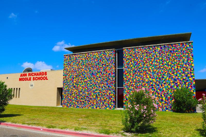 Landscape View facing Ann W. Richards Middle School