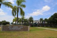 Landscape View facing Leo James Leo Elementary