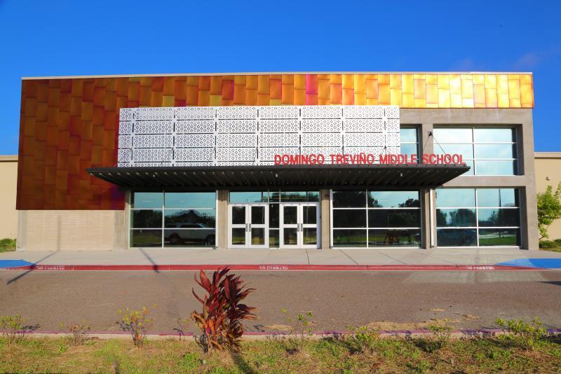 Landscape View facing Domingo Treviño Middle School