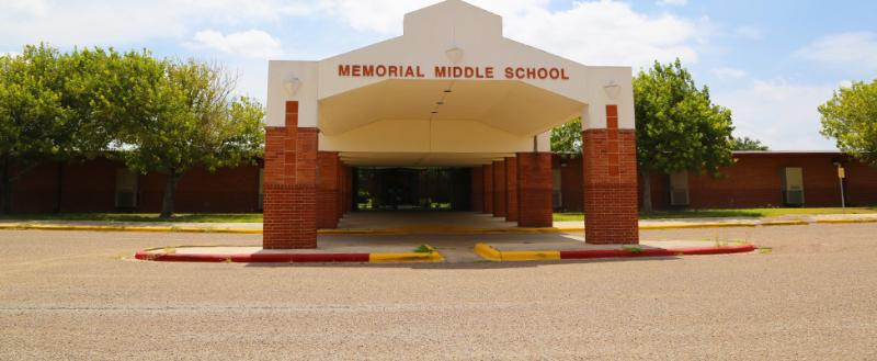 Landscape View facing Memorial Middle School