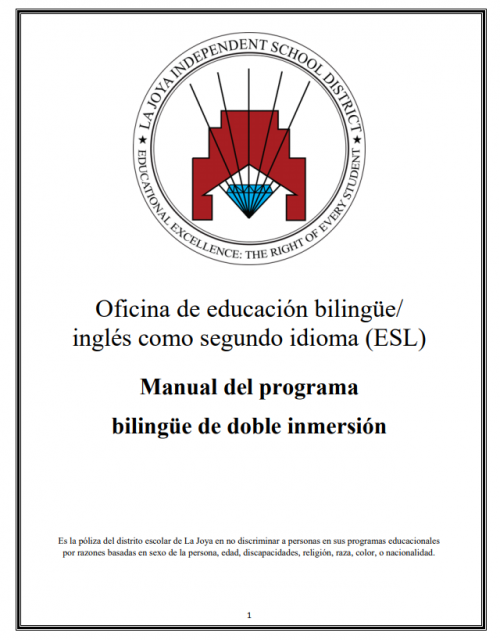 Manual del Programa De Doble Inmersión