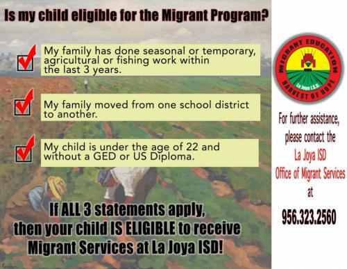 Migrant Eligibility English