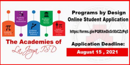 Programs by Design Online student application
