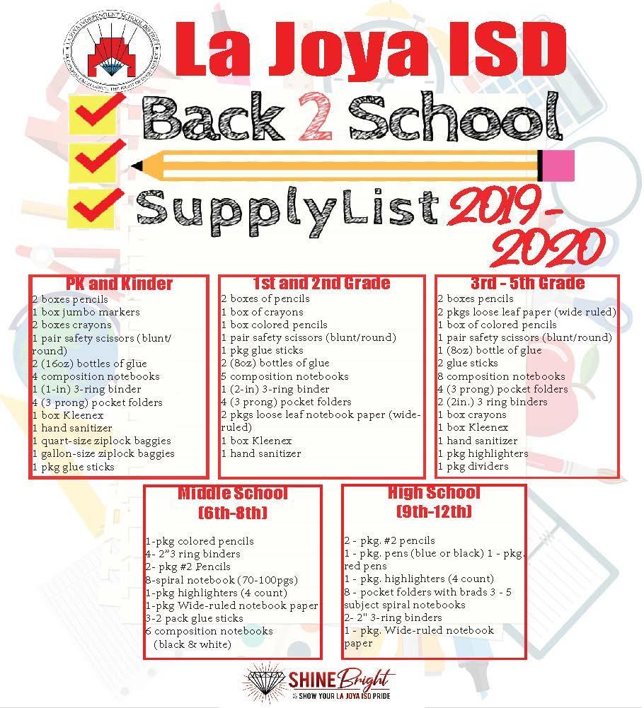 Supply List 2020