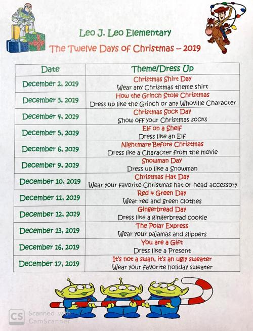 English 12 days of Christmas wear