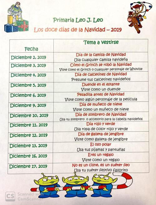 Spanish 12 days of Christmas Wear