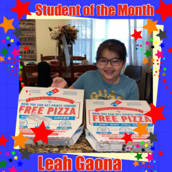 Mrs. Cantú's Student of the Month