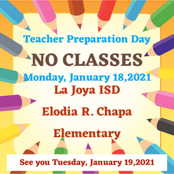No Classes, Teacher Preparation Day!