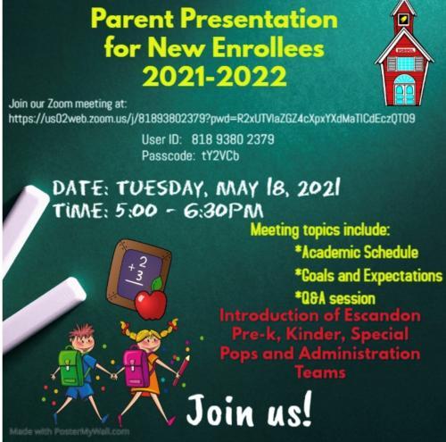 parent meeting flyer
