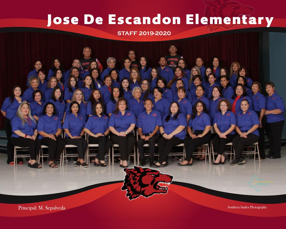 2019 2020 Jose de Escandon Staff Picture