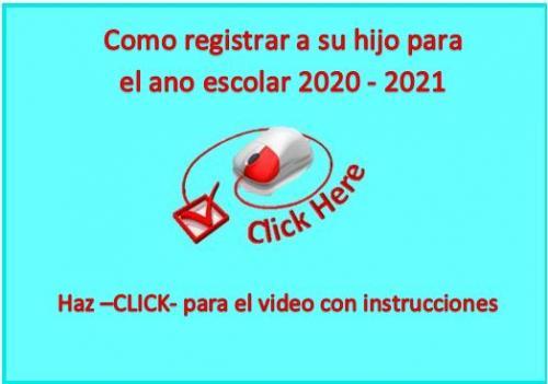 Returning Student Registration Instructional Video Link-- Spanish