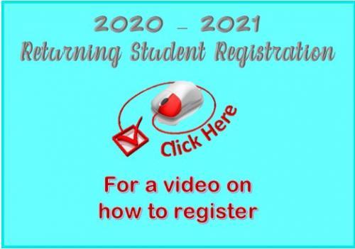 Returning Student Registration Instructional Video Link