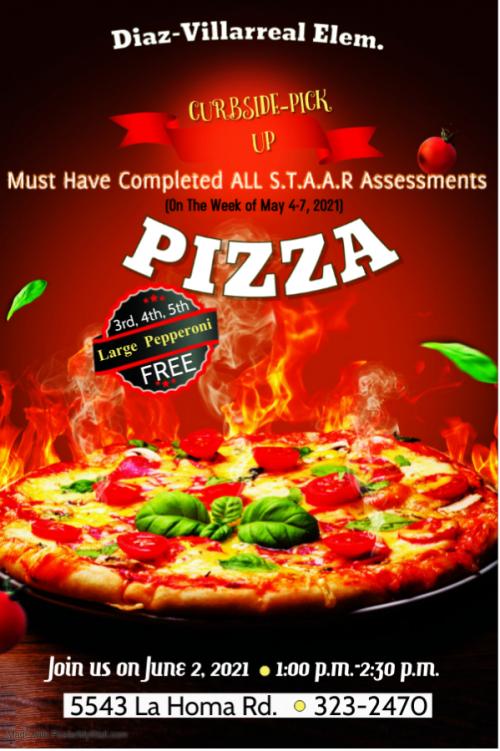 STAAR Pizza Award Distribution - June 2nd