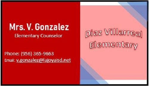 Contact: V. Gonzalez, Counselor