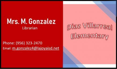 Contact: M. Gonzalez, Librarian