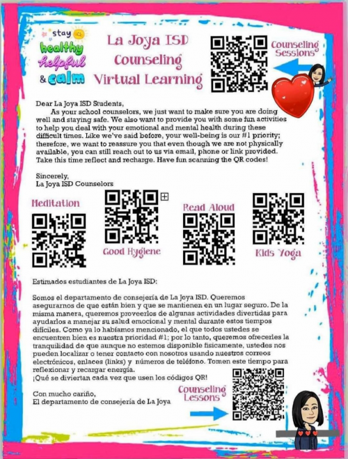 Counselor Resource QR Codes