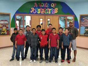 Football Players with their sponsor Coach Chapa