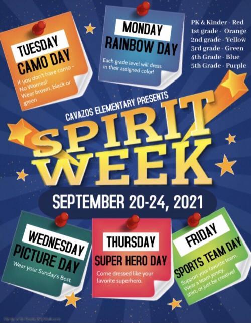 spirit week 2021
