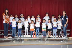 Kindergarten - B. Salinas' Class - Attendance Traveling Trophy Recipients