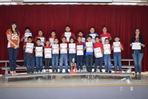 2nd Grade - N. Adame's Class - Attendance Traveling Trophy Recipients