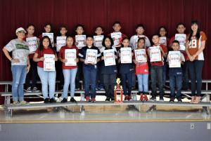 5th Grade - I. Zamora's Class - Attendance Traveling Trophy Recipients