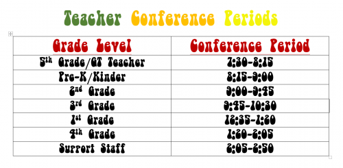 Teacher Conference Periods