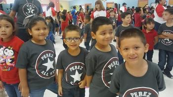 Perez Elementary Students ready for an All Star Year