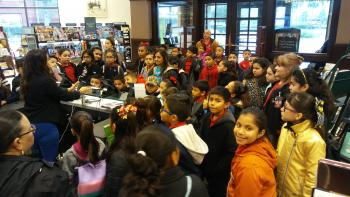 Perez Elementary students at Barnes and Noble Field Trip