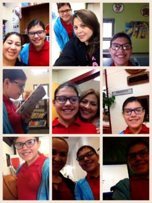Students enjoys taking selfies with staff around our school!