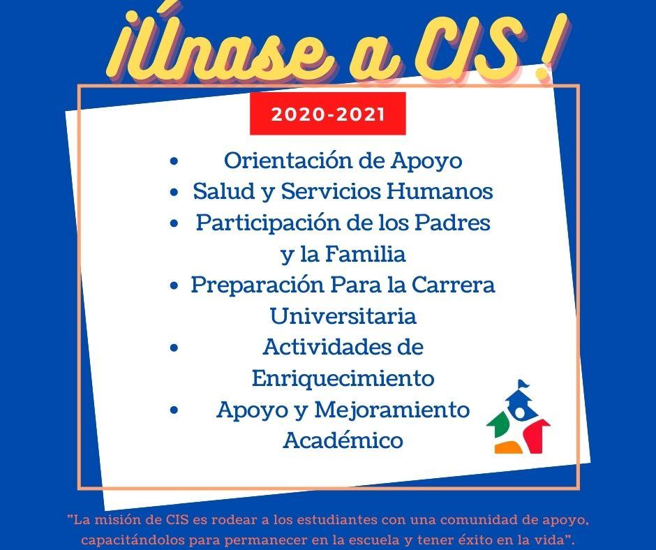 ¡Únase a CIS!