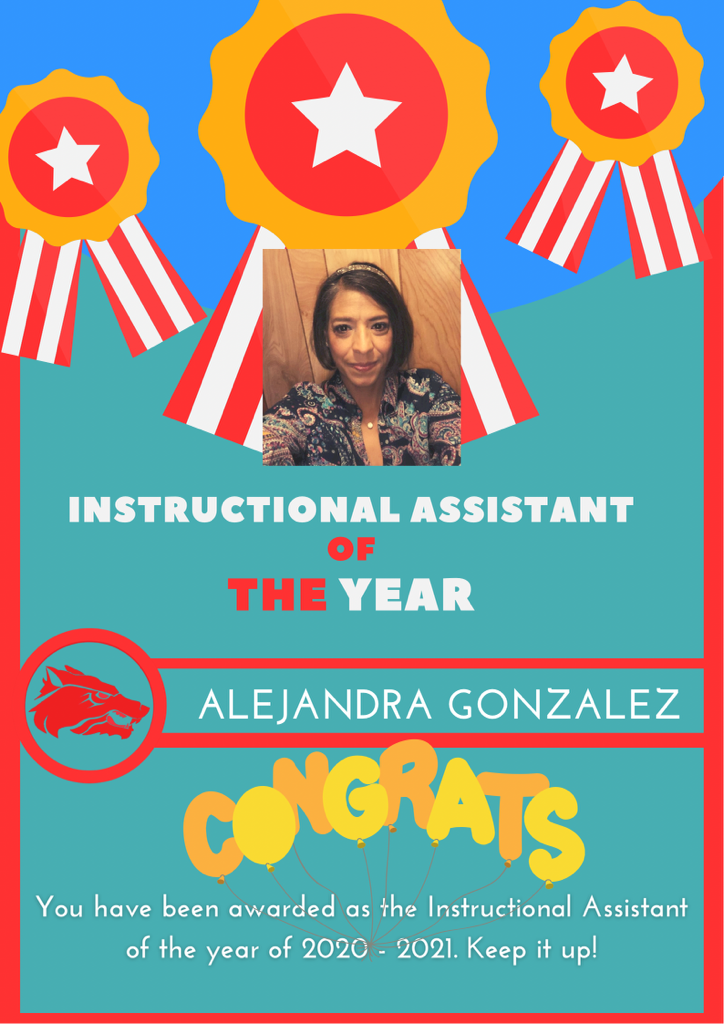 Instructional Assistant of the Year