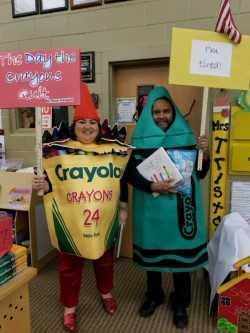 Character Parade  Librarian and Music Teacher as