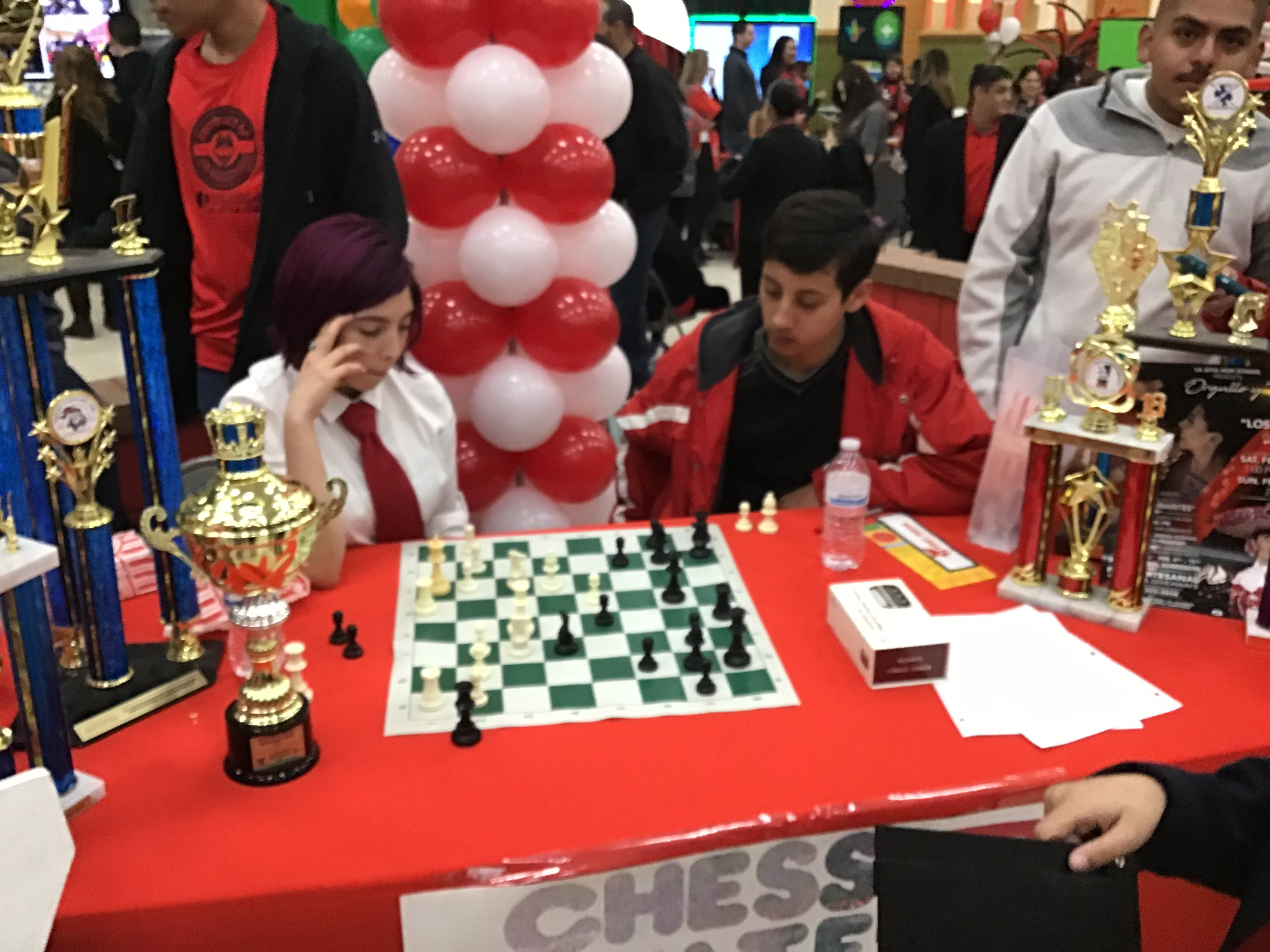 Chess Team Showing Off