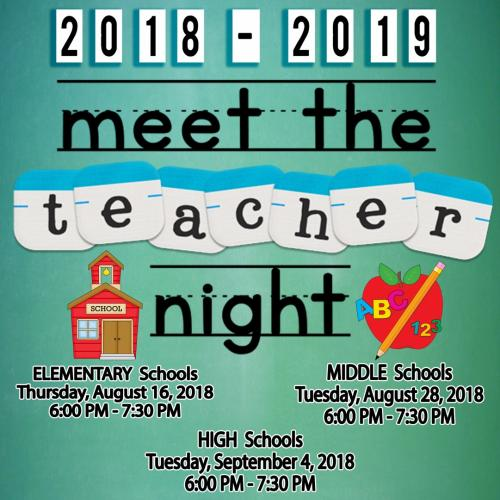 Meet the teacher dates