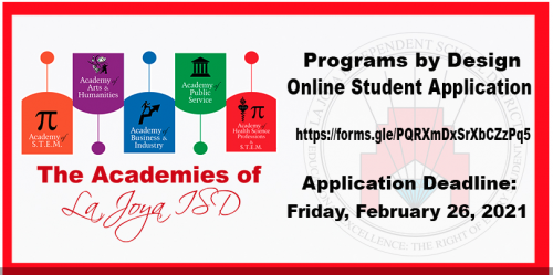 Program By Design Application for 8th Grade students