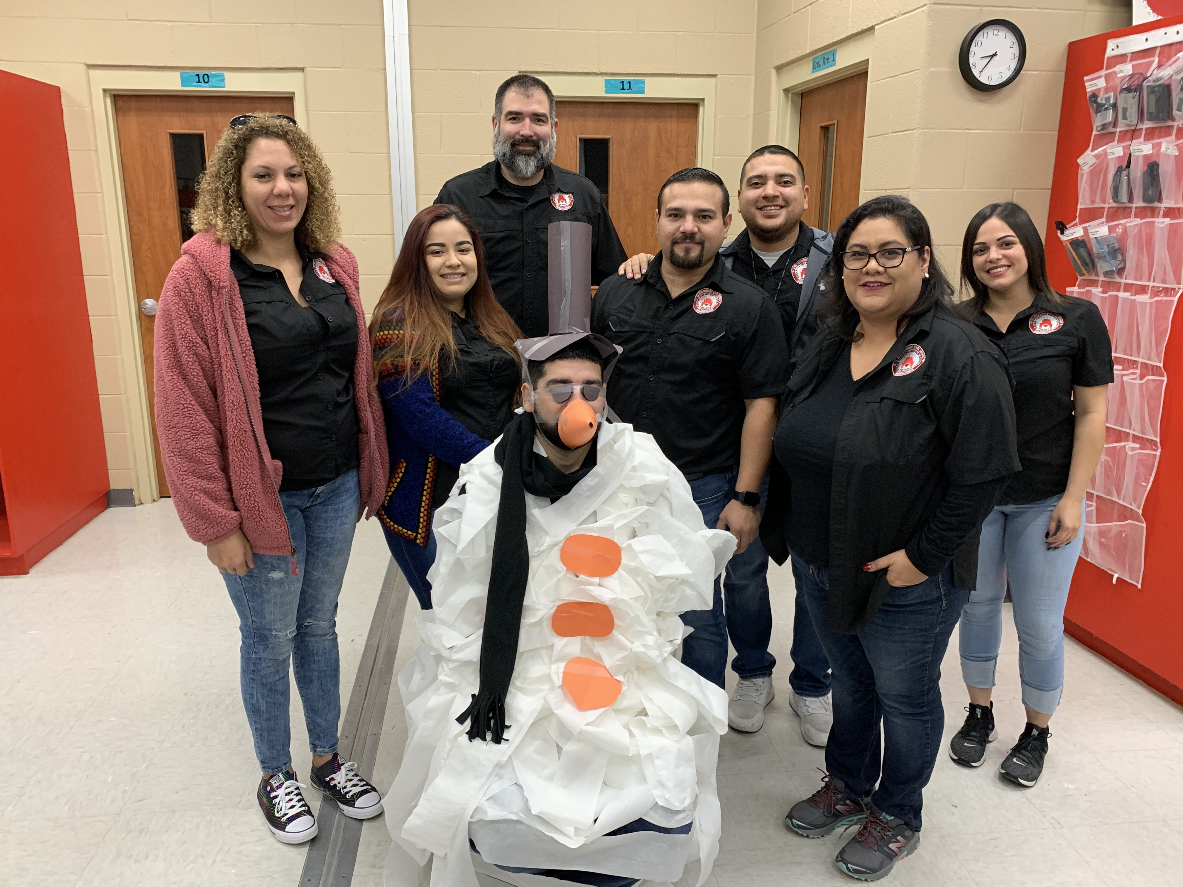 Science Teachers featuring snowman Mr. Garza